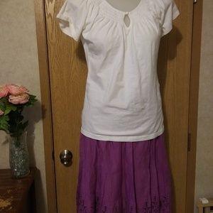 3 pc skirt, shirt and kimono